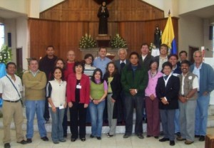 Monseñor Víctor Corral, Obispo de Riobamba, acompañó la jornada de trabajo de Signis Ecuador.
