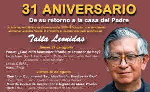 31 años de la partida de Monseñor Proaño